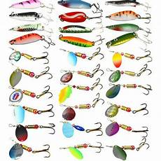 Slu My Chart New 30pcs Lot Fishing Lure Mixed Color Size Weight Hook