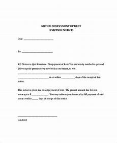 Notice Of Eviction For Nonpayment Of Rent Eviction Letters 10 Free Pdf Word Documents Download