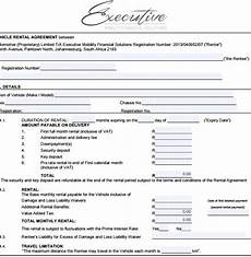 Vehicle Lease Agreement Sample Sample Vehicle Lease Agreement Template 7 Free