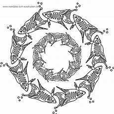 Ausmalbilder Fische Mandala Ausmalbilder Mandala Kostenlos Malvorlagen Zum