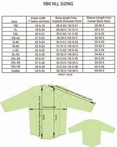 Ccm Size Chart Jersey Size Charts For Products Projoy Sportswears And Apparel