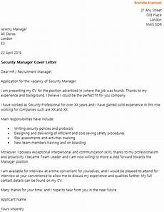 Cover Letter For Security Position Security Manager Cover Letter Example Icover Org Uk