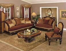 traditional fabric covered living room set living room