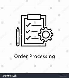 Order Processing Order Processing Vector Line Icon Stock Vector 597463928