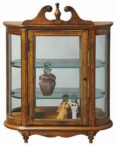 westbrook wall mounted curio cabinet vintage oak finish