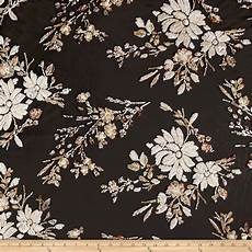 embroidery fabric telio sequin mesh embroidery floral black gold discount