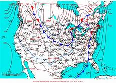 Surface Analysis Chart Depicts Tornado Outbreak February 17th 2008