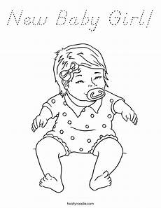 Baby Girl Coloring Pages New Baby Girl Coloring Page D Nealian Twisty Noodle