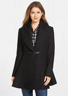 kensie coats for neumaticos kensie kensie shawl collar fit flare coat outerwear