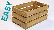 how to make a wooden crate box diy wooden box