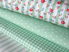 fabric crafts cotton mint green stripe floral check 100 cotton fabric for