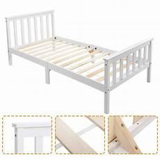 single bed bed white solid wooden frame 3ft 4ft6