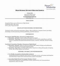 High School Student Resume Templates High School Resume Template 9 Free Word Excel Pdf