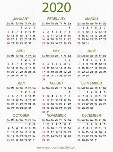 Free 2020 Calendars Download 2020 Calendar Free Templates