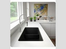 "Blanco 442522 Precis 33"" Reversible 1 3/4 Double Bowl Undermount Silgranit Kitchen Sink with Low"
