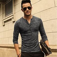 sleeve henley shirts for new henley shirt 2016 new tops sleeve stylish