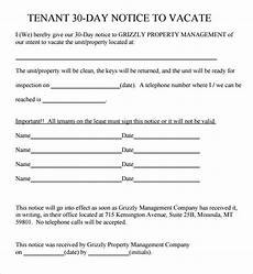 Notice Templates Sample 30 Day Notice Template 10 Free Documents In Pdf