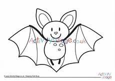 bat colouring page 3