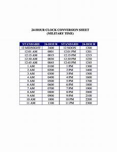 Standard Time Sheet 30 Printable Military Time Charts ᐅ Templatelab