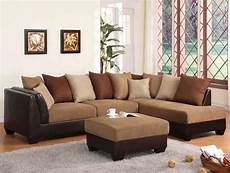 sectional sofa in light brown terylene fabric