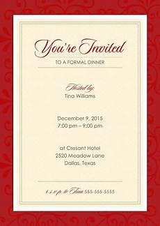 Sample Invitation For Dinner Formal Dinner Party Holiday Amp Christmas By Cardsdirect