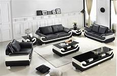 divani casa t777 modern black white bonded leather sofa set