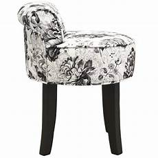 black stool low back padded dressing chair with