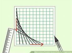 Graph Paper Art Step By Step Draw A Parabolic Curve A Curve With Straight Lines