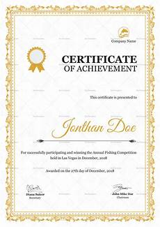 Certificate For Competition Annual Fishing Competition Certificate Design Template In