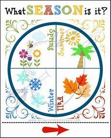 Season Wheel Chart Seasons Wheel Printable Circle Time Learning Tool Spring
