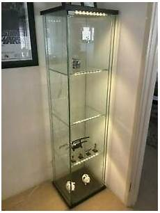 Detolf Cabinet Lighting Ikea Detolf Glass Display Cabinet Two Unit With Led
