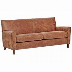 brand rivet lawson modern angled leather sofa 78