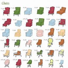 Chart Furniture Upholstery Reference Charts