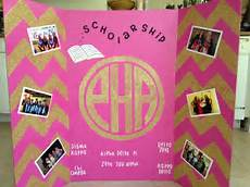 tri fold board designs panhellenic sorority recruitment tri fold board