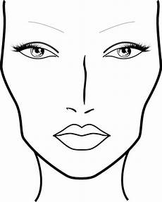 Brown Face Chart Blank Blank Mac Face Charts Printable Sketch Coloring Page