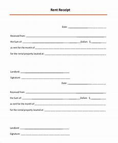 Monthly Rent Receipt Format Free 16 Sample Rental Receipts In Pdf Ms Word Pages