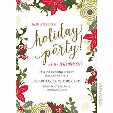 Office Christmas Party Invites Floral Holiday Party Invitation Kateogroup