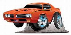 classic american muscle car cartoon by jeffhobrath