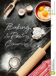 Cake Poster Design Baking And Pastry Course Poster Design Stock Photo