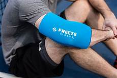 freeze sleeve cold therapy compression sleeve freeze sleeve offers cold compression therapy on sore