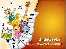 Musical Powerpoints Musical Notes Entertainment Powerpoint Templates And