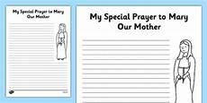 Prayer Template Prayer Template My Prayer To Mary Our Mother Mary Our Lady