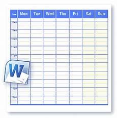 Open Office Schedule Template Printable Schedule Templates In Word And Open Office Format