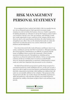 Management Personal Statement Pin By Graduate School Personal Statement Samples On Risk