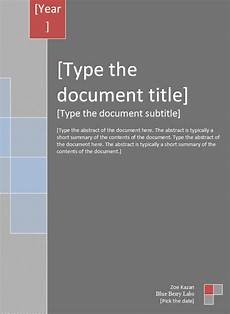 Report Cover Page Templates Free Download Report Cover Template 4 Free Word Documents Download