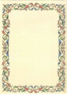 cornici per pergamene da scaricare gratis carta pergamena tema cornice conf 2 fogli per scrittura