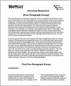 Response To Literature Essay Example Free 8 Response Essay Samples In Ms Word Pdf