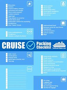 Packing List For Cruise Cruise Packing List Pdf Free Printable Download