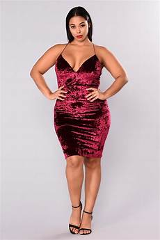 Fashion Nova Size Chart Tayla Crushed Velvet Dress Burgundy