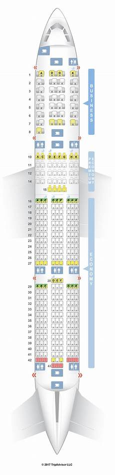 Airbus A350 900 Seating Chart Seatguru Seat Map Vietnam Airlines Airbus A350 900 350 V2